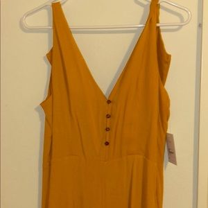 FOREVER 21 Mustard Yellow Jumpsuit